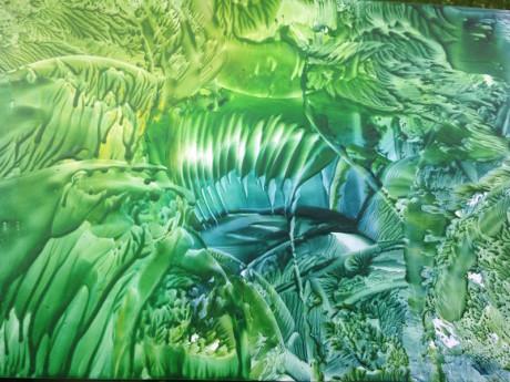 Brčálová metamorfóza – encaustic art, enkaustický obraz