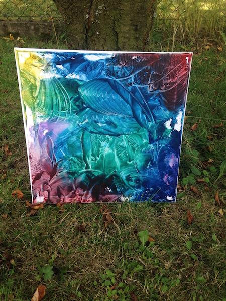 Enkaustický obraz - originální obraz, encaustic art