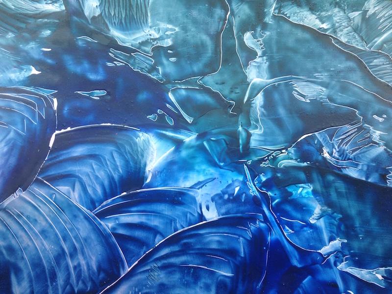 Oceán - enacaustic art, enkaustický obraz