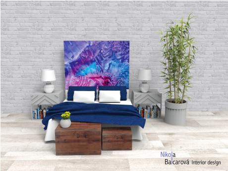 Z rozbouřených nebes – encaustic art, enkaustický obraz