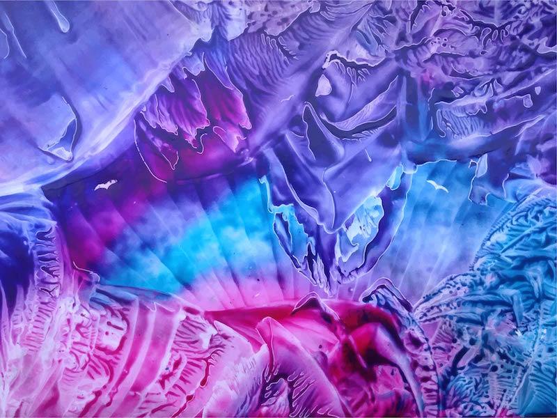 Z rozbouřených nebes - encaustic art, enkaustický obraz